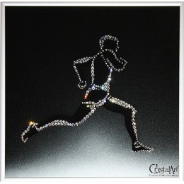 "Картина с кристалами Swarovski ""Легкоатлет"""