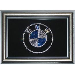 """Картина Swarovski """"Логотип BMW"""""""