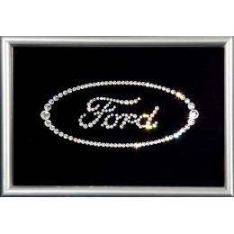 "Картина Swarovski ""Логотип Форд"""