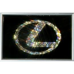 """Картина с кристалами Swarovski """"Логотип Лексус"""""""