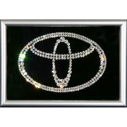 "Картина с кристалами Swarovski ""Логотип Toyota"""