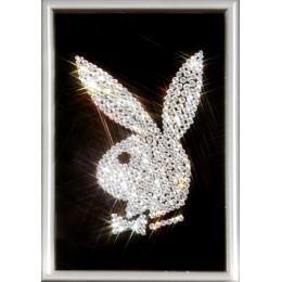 "Картина с кристалами Swarovski ""Логотип Playboy"""