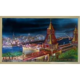 "Картина с кристалами Swarovski ""Москва старая"""