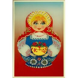 "Картина с кристалами Swarovski ""Матрешка"""