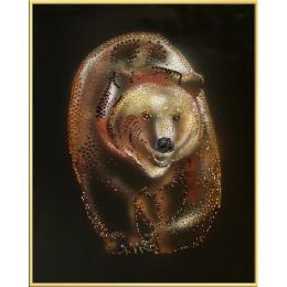 """Картина Swarovski """"Медведь"""""""