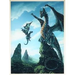"Картина Swarovski ""Мир драконов"""