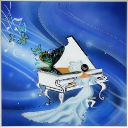 """Картина с кристалами Сваровски """"Музыкальное вдохновение"""""""
