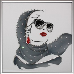 "Картина Swarovski ""Мода 60-х"""