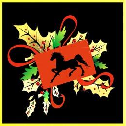 """Картина с кристалами Swarovski """"Новогодн открытка Год лошади-2"""""""