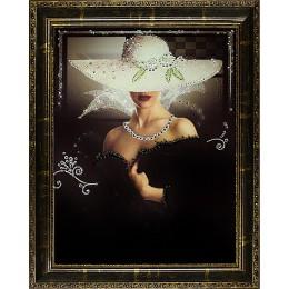 "Картина с кристалами Swarovski ""Незнакомка (коричневый багет)"""