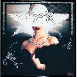 "Картина с кристалами Swarovski ""Незнакомка """