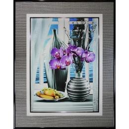 """Картина Swarovski """"Натюрморт Орхидея"""""""