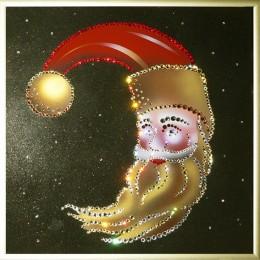 """Картина с кристалами Swarovski """"Новогодний месяц"""""""