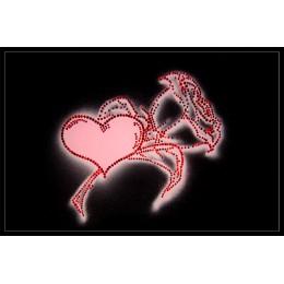 """Картина Swarovski """"Огонь признания (роза+ сердце)"""""""