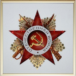 """Картина Сваровски """"Орден Отечественной войны"""""""