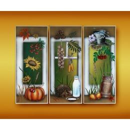 """Картина Swarovski """"Осенний урожай (триптих)"""""""