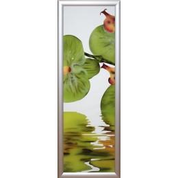 """Картина с кристалами Swarovski """"Орхидея -2"""""""