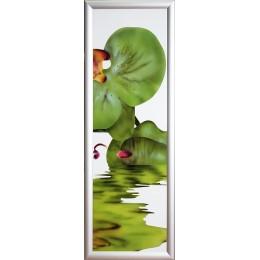"""Картина с кристалами Сваровски """"Орхидея -4"""""""