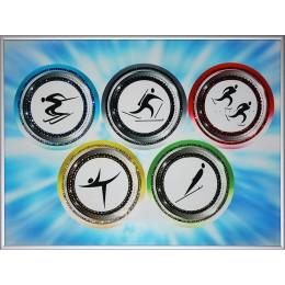 "Картина с кристалами Swarovski ""Олимпиада 2014"""