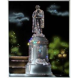 "Картина с кристалами Swarovski ""Памятник Пушкину"""