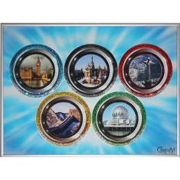 "Картина с кристалами Swarovski ""По странам олимпиады"""