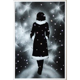 "Картина с кристалами Swarovski ""Под снегом"""