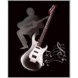 """Картина с кристалами Swarovski """"Пой гитарная струна"""""""