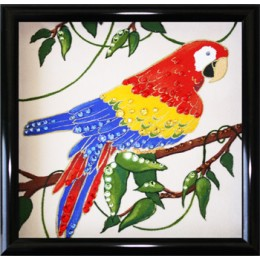 "Картина с кристалами Swarovski ""Попугай Ара"""