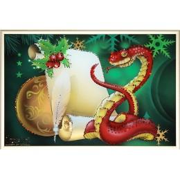 "Картина Swarovski ""Предсказание в год змеи"""