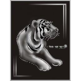 """Картина Swarovski """"По следам тигра """""""