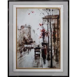 "Картина с кристалами Swarovski ""Прогулка по Лондону 2"""