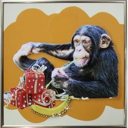 "Картина Swarovski ""Подарки от мартышки"""