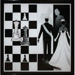 """Картина Swarovski """"Шахматный гамбит"""""""