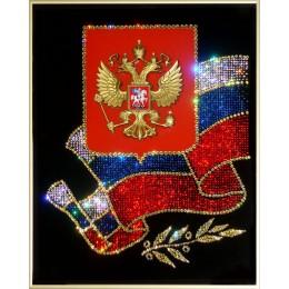"""Картина с кристалами Swarovski """"Российская символика"""""""