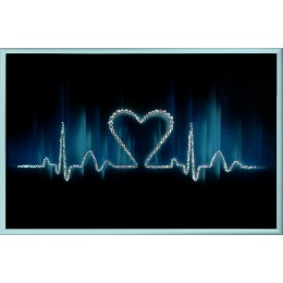 "Картина с кристалами Swarovski ""Ритм сердца"""