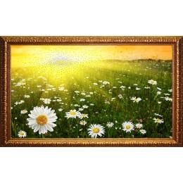"""Картина Swarovski """"Ромашковое поле 2 (багет)"""""""