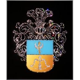 """Картина с кристалами Swarovski """"Родовой герб """""""