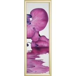 "Картина Swarovski ""Сиреневая орхидея-4"""