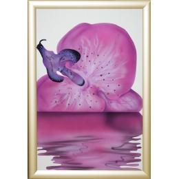 """Картина с кристалами Swarovski """"Сиреневая орхидея-5"""""""