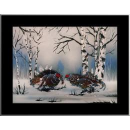 """Картина с кристалами Swarovski """"Тетерева"""""""