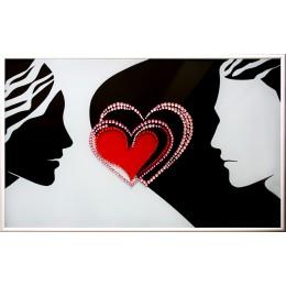 """Картина Swarovski """"Унисон сердец"""""""