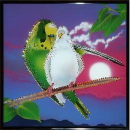 """Картина с кристалами Swarovski """"Утренняя песня"""""""