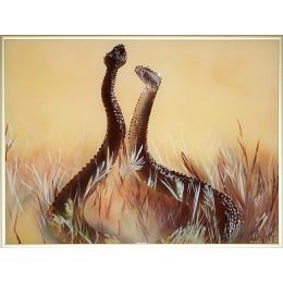 """Картина Swarovski """"Влюбленные змейки"""""""