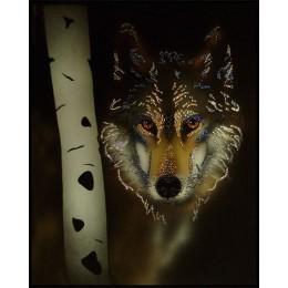 "Картина с кристалами Swarovski ""Волк"""