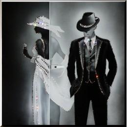 """Картина с кристалами Swarovski """"Вечер судьбы"""""""