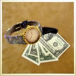 "Картина Swarovski ""Время деньги"""