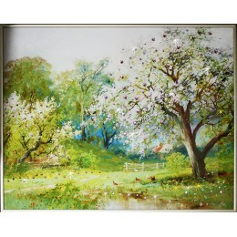 """Картина Swarovski """"Весенний сад-2"""""""