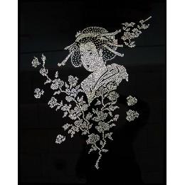 """Картина с кристалами Сваровски """"Японка"""""""