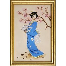 """Картина Swarovski """"Японка"""""""