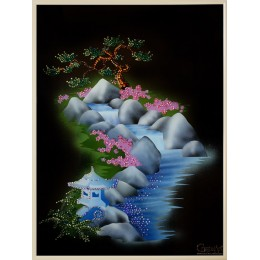 """Картина Swarovski """"Японский сад"""""""
